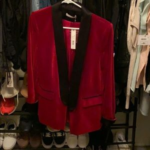 Alice and Olivia velvet blazer NWT
